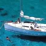 Sailing yacht in Croatia
