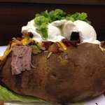 Smoked Pork Overstuffed Giant Potato