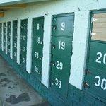 Lockers at the Dunns Beach