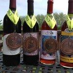 Several award winning wines