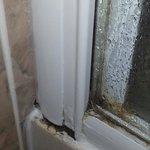 Mouldy shower door