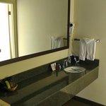 Ausgeelagertes Waschbecken