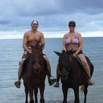 us horseback riding on the beach