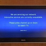 Interactive tv not in service.