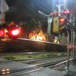 Be careful, train crossing!