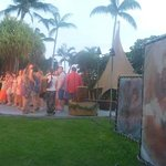 performers teaching audience to dance hula to Lilo & stitch song