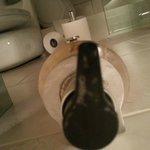 Dirty soap dispenser