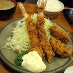 エビフライ&ヒレカツ定食