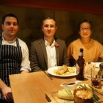 Photo with Chef Andy Waite and Manager James Gardiner