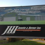 A sign of our new hangar that is now being constructed by Janotta & Herner!!!!