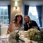 Our wedding in the Robert Owen Suite