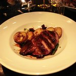 Filet de canard - betteraves - haricots
