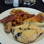 Alfred's gourmet breakfast