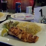 Salmon fillet with rice - £10 quid