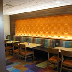 Breakfast area bench seating