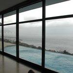 Die Aussicht vom Speisezimmer/Loungebereich