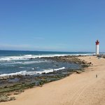 View of the Lighthouse from the pier at Umhlanga main beach