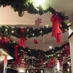 Lounge decorations.
