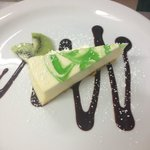 Lime swirl cheesecake