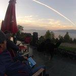 deck con vista increible del lago..