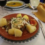 Cod fish served with potatoes - hearty and tasty