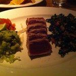 Amazing tuna tacos with kale salad