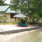 Spa bungalow from the lagoon