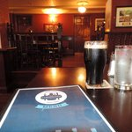 Polished wood and a pint of Guinness