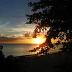 sunset at Dover Beach