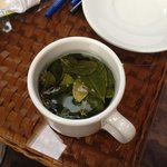 First of many cups of coca tea