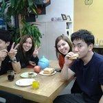 칠레친구들과 아침식사