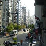 Vista desde habitación sobre 18 de Julio