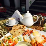 Fusion breakfast with pot of chai. Gets the day started