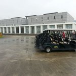 Buggy park in front of Clubhouse