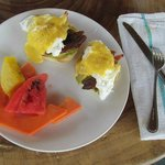 Jalapeno infused Eggs Benedict! 5 stars!