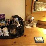 Bedroom drinks selection.