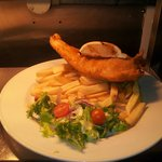 Fresh beer battered haddock made on premises