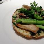 the veggie choice for breakfast, eggwhite frittata with asparagus