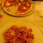 Some GF pizza & some spagetti