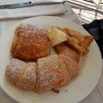 Fresh baked pastries for breakfast.
