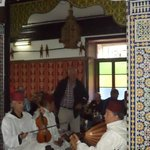 Musicians play traditional music at Mamounia Palace