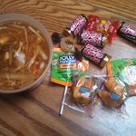 Hot & Sour Soup, Fortune Cookies, example of candy for after your meal