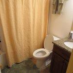 The bathroom with the softest bathmat EVER!