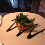 Goats cheese tartlet with deep fried rocket