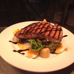 Seared teriyaki tuna on a warm Niçoise salad