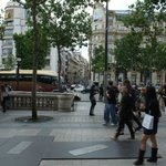 Outside hotel on Champs-Elysee