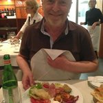 my darling with his plate