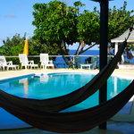 hammocks / pool / relaxation area