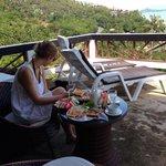 Frühstück auf unserer Terrasse ;)