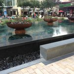 Fountain in the City Centre plaza
